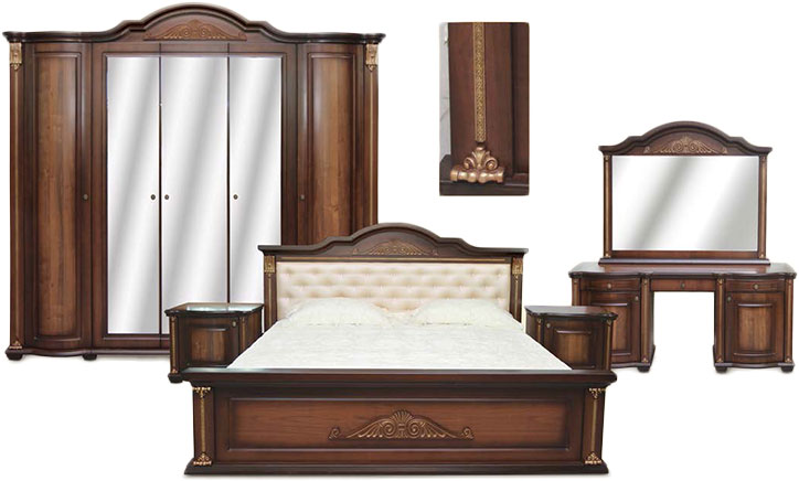 Спальня Лаванда (5 дв. шкаф)