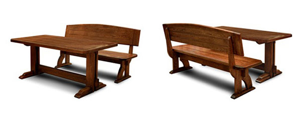 Стол со скамьей