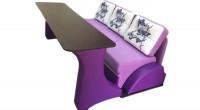 Диван-кровать угловой со столом, трансформер