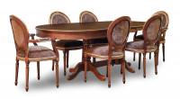 Стол овальный К15, Медальон кресла и стулья